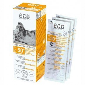 eco SNOW and FUN Sun cream SPF 50+ light toned very high protection
